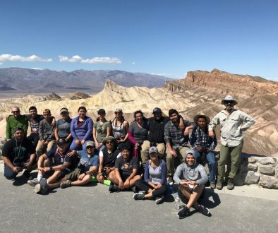 Danza class group photo of Death Valley Fieldtrip